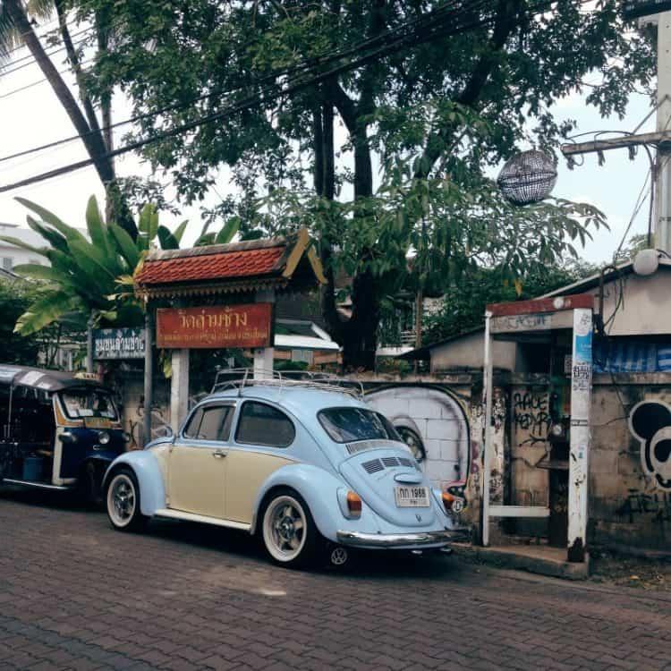 Blue Car in Thailand
