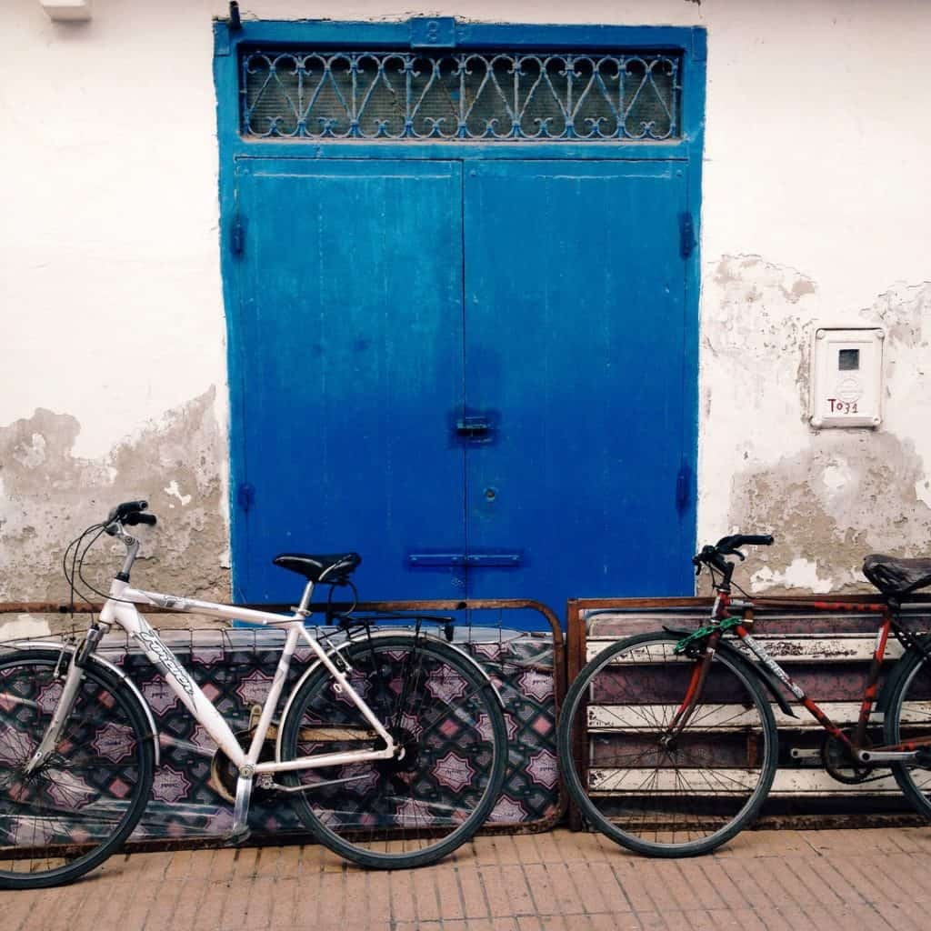 Bikes and Blue in Essaouira