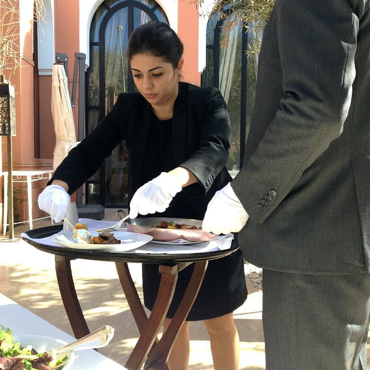 Lunch Plating Royal Mansour