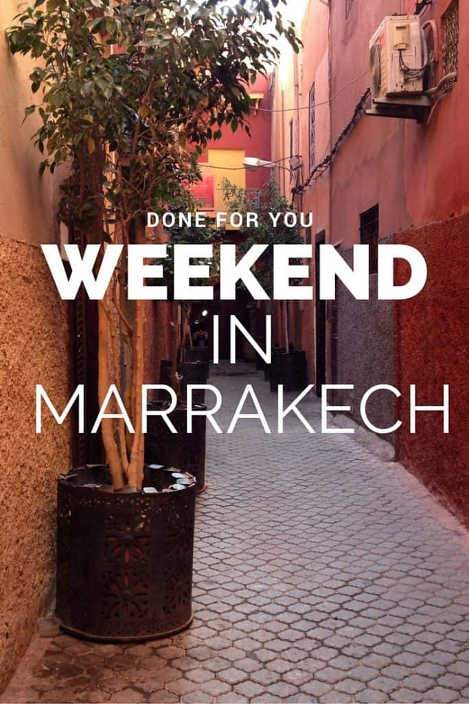 DIY Weekend in Marrakech
