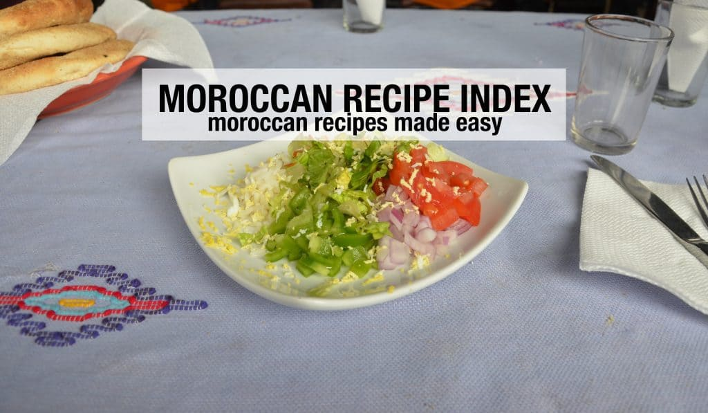 Morocco Recipe Index Horizontal
