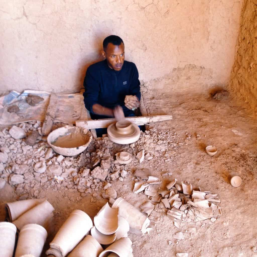 Pottery maker in Tamegroute