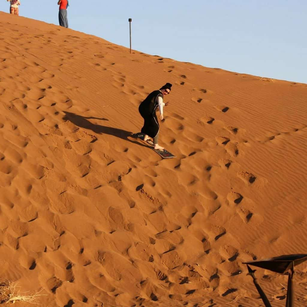 Sandboarding in the Sahara