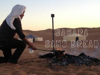 Making sand bread in the Sahara