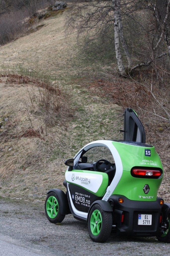 Twizy Car in Geiranger Norway