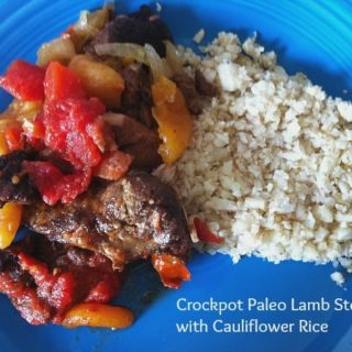 Crockpot Paleo Lamb Tajine with Cauliflower Rice