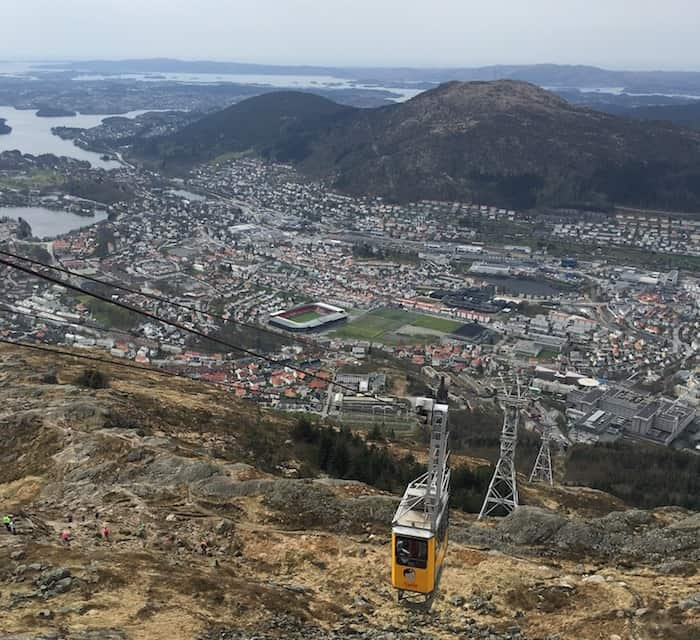 Funicular in Bergen Norway
