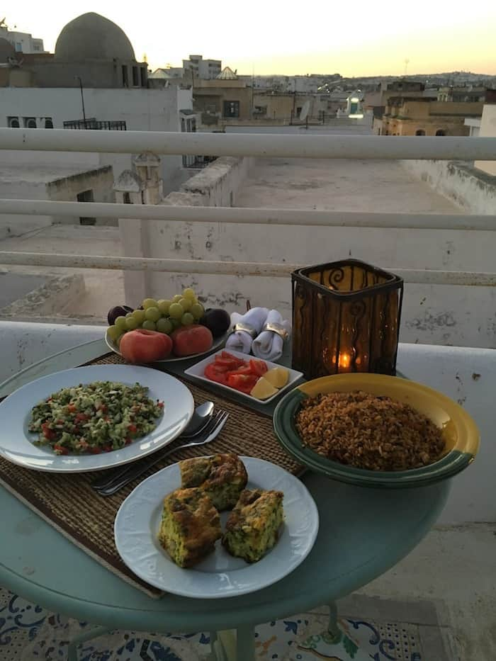 Dinner in Tunis on the Rooftop