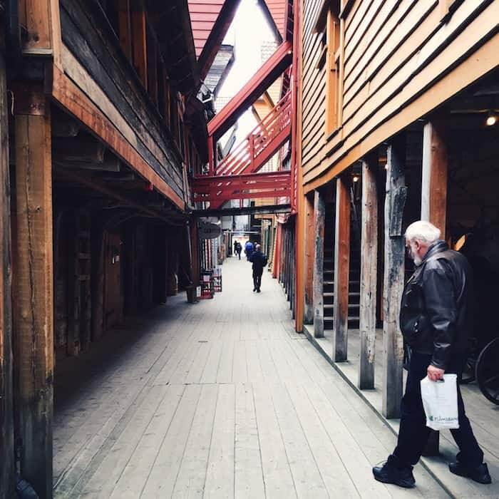 Old wooden Buildings in Bergen