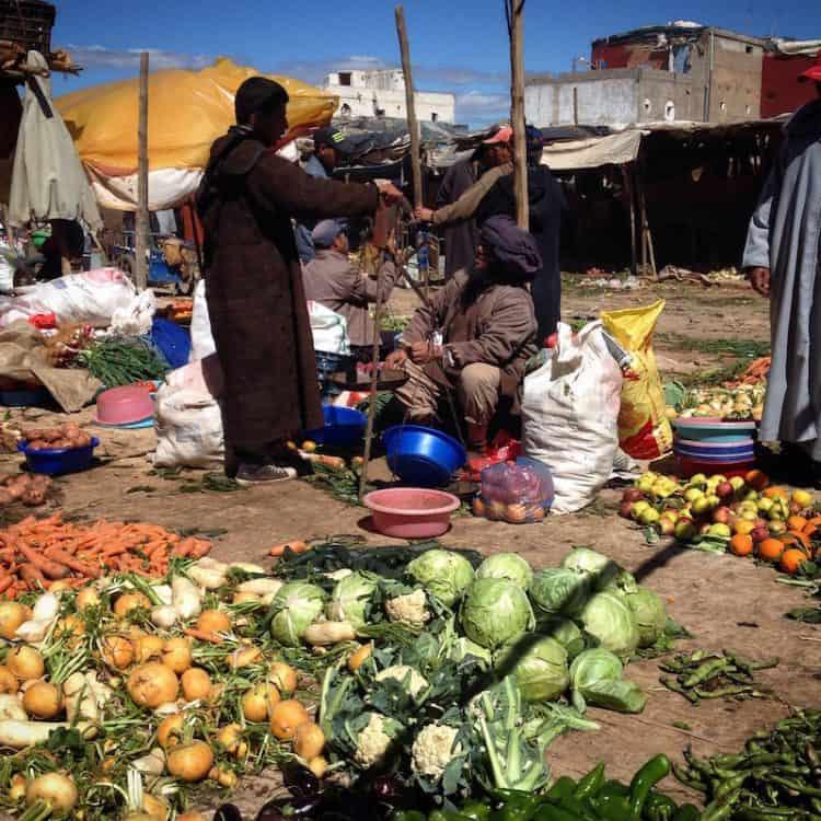 Visit a rural market in Morocco