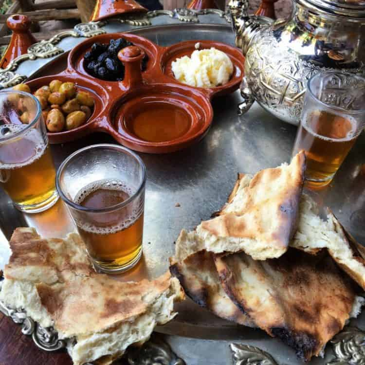 Tafernout Breakfast in Imlil Morocco