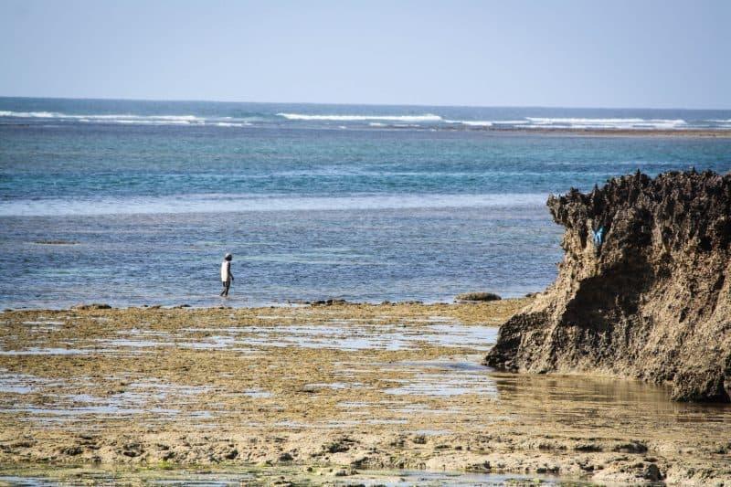Man Fishing in the Indian Ocean Kenya