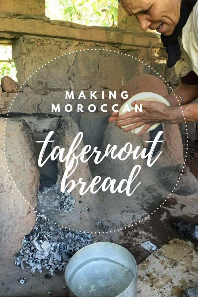 Making Moroccan tafernout bread in Imlil Morocco