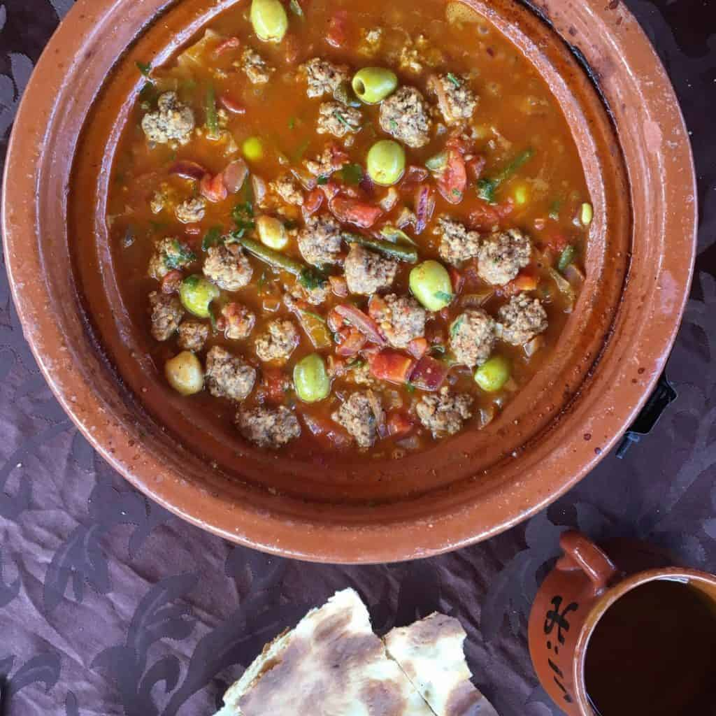 Meatball Tajine at Kasbah du Toubkal