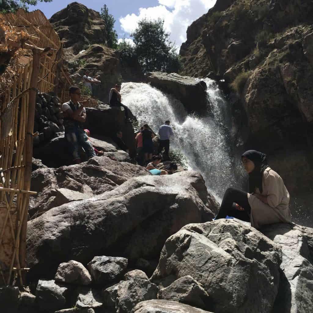 Waterfall in Imlil Morocco