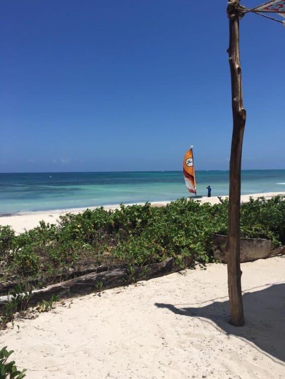 Kite Surfing on Diani Beach Kenya