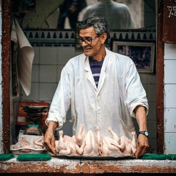 Butcher in Morocco
