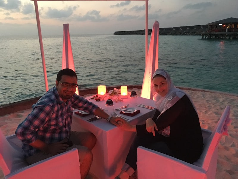Sunset Dinner by Candlelight