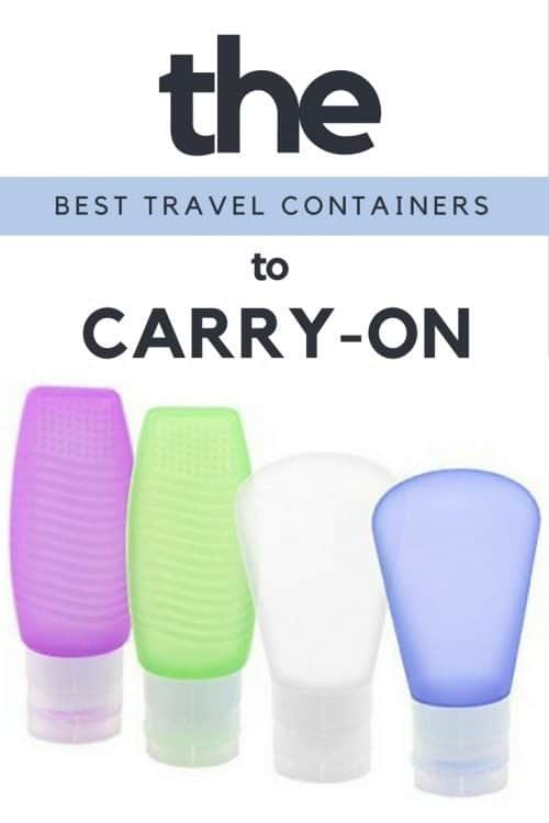 the best travel containers to carry-on
