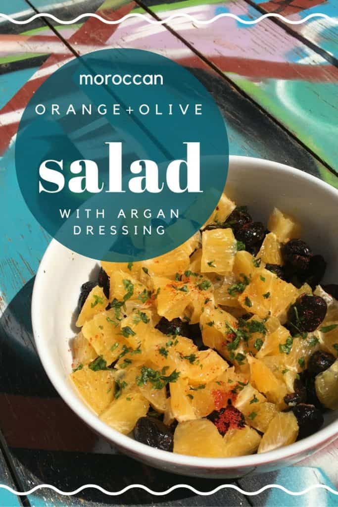 Moroccan Orange and Olive salad with Argan Dressing