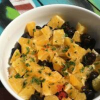 Moroccan Orange and Black Olive Salad with Argan Dressing