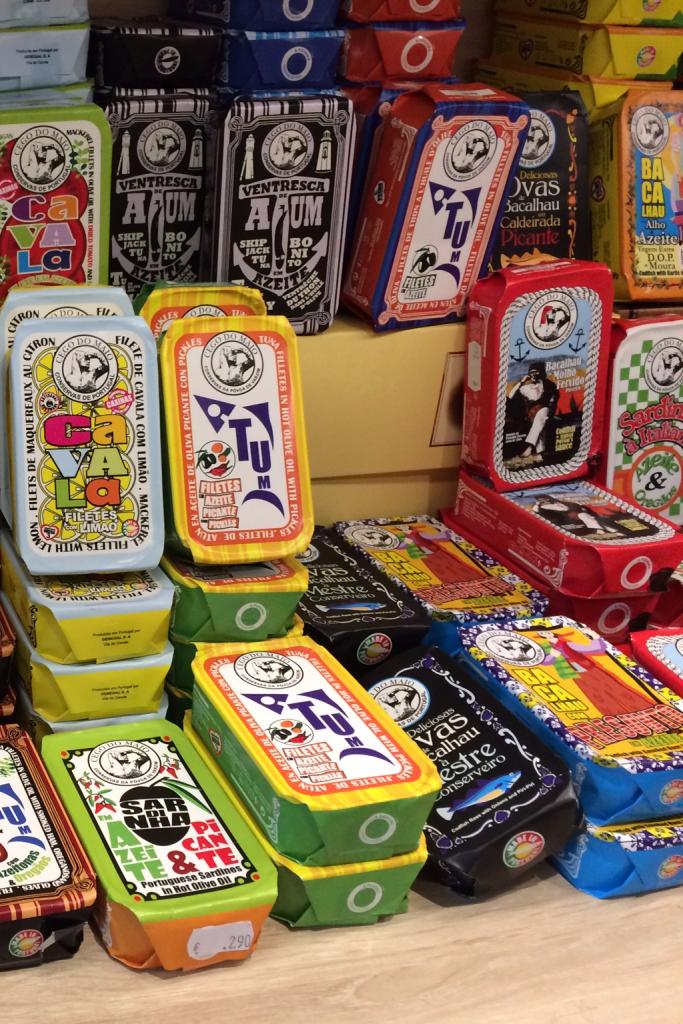 Shopping at Lisbon airport sardines