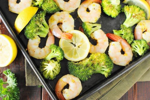 Roasted Shrimp and Broccoli Sheet Pan Meal