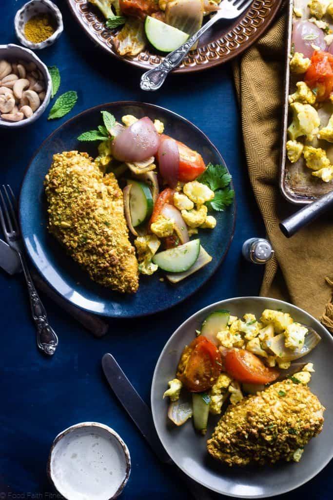 Curry Cashew Chicken Sheet Pan Meal