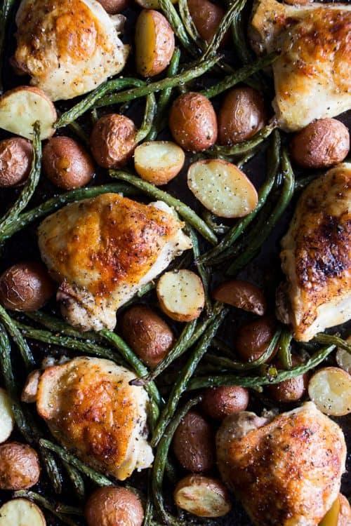 Sheet Pan Chicken and Potato Dinner