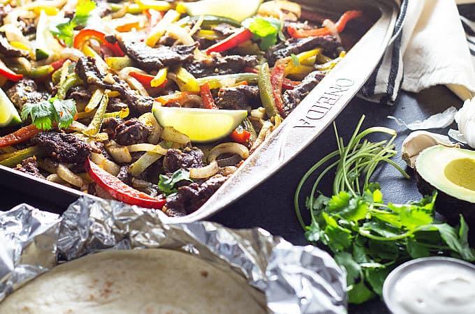 Sheet Pan Steak Fajita Meal