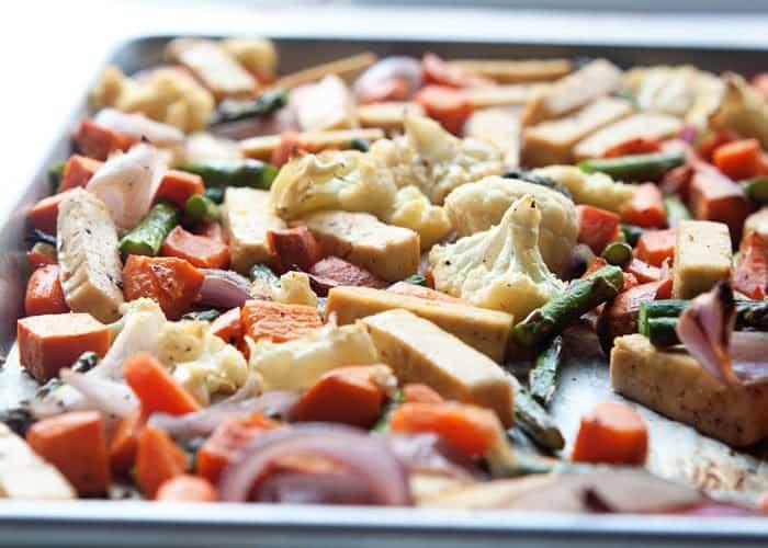 Sheet Pan Veggie Tofu Dinner