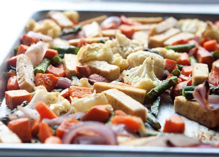 Truffle Roasted Vegetables Sheet Pan Meal