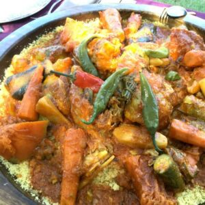 Corn Couscous with Vegetables