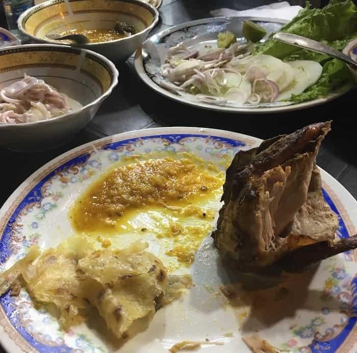 Sri Lankan Ghee Roti and Chicken
