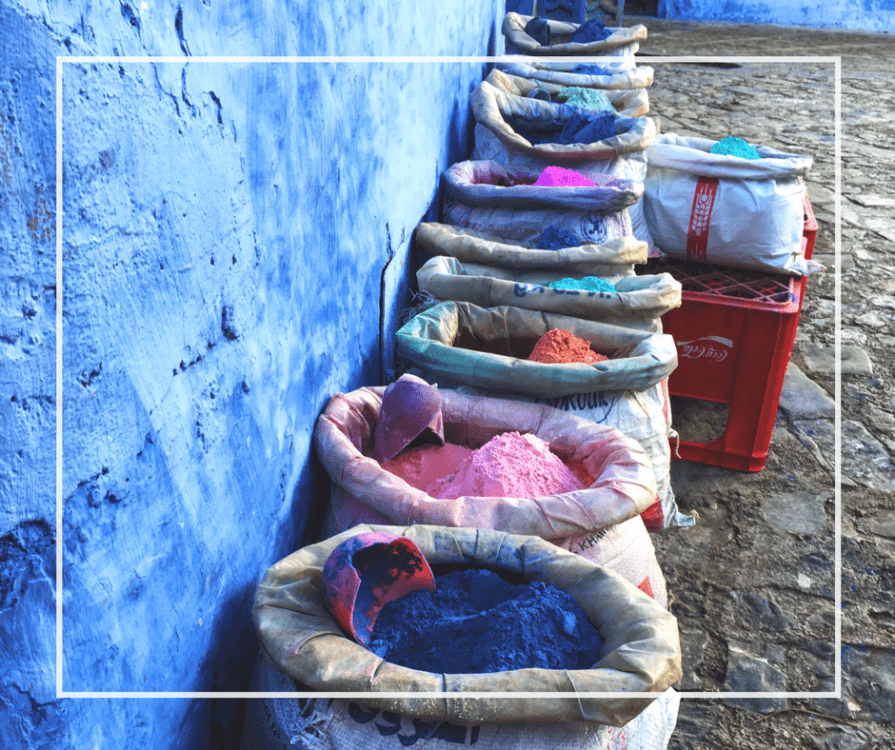 Paint Colors in Chefchaouan, Morocco