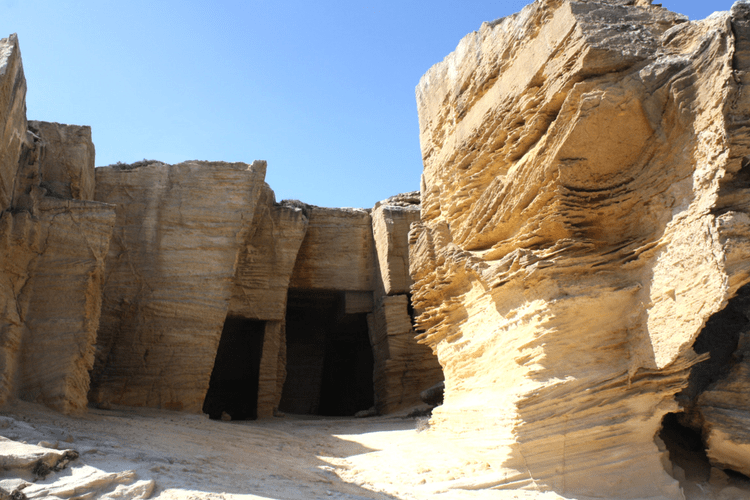 Rock Caves in Favignana