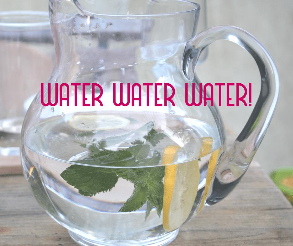 Drink water in a Marrakech summer