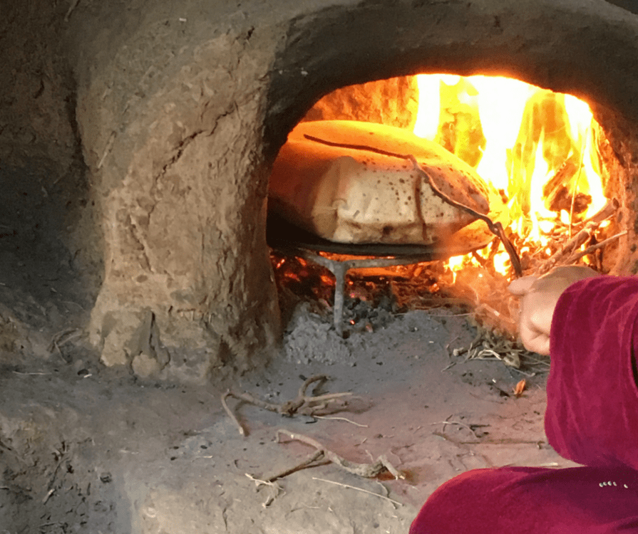 Baking Bread over fire