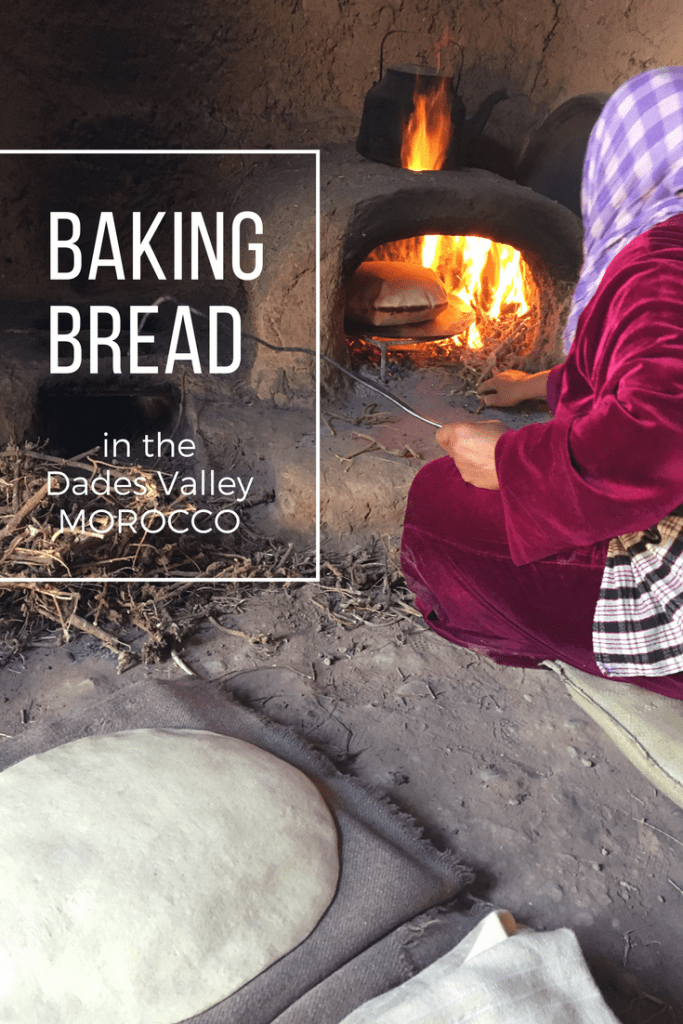Baking bread in the Dades Valley of Morocco