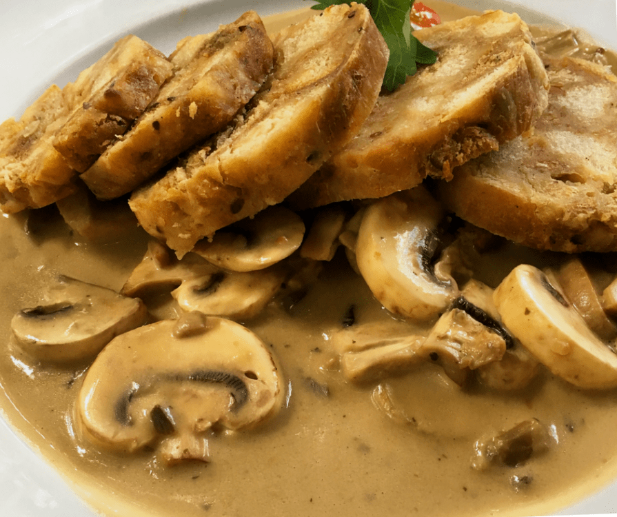 Bread Dumplings and Mushroom Sauce in Mainz