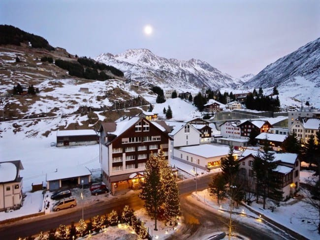 Andermatt, Switzerland for a guaranteed white Christmas