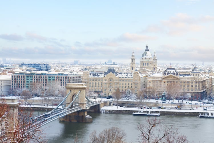 White Christmas in Budapest