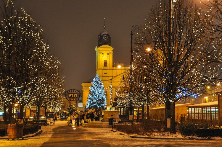 Debrecen Hungary for white Christmas