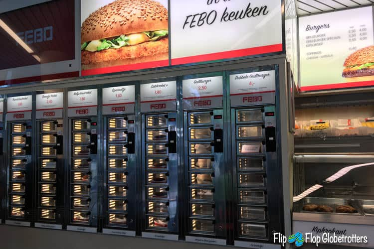 Savory Snacks in a Vending Machine at Febo