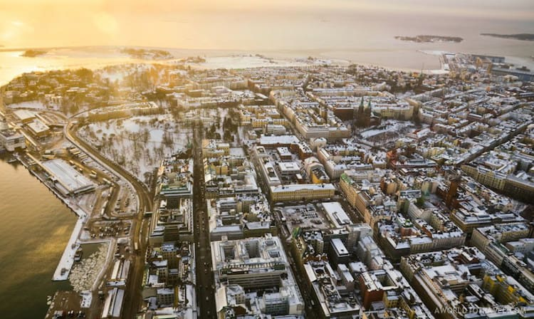 Helsinki Finland for a guaranteed white Christmas