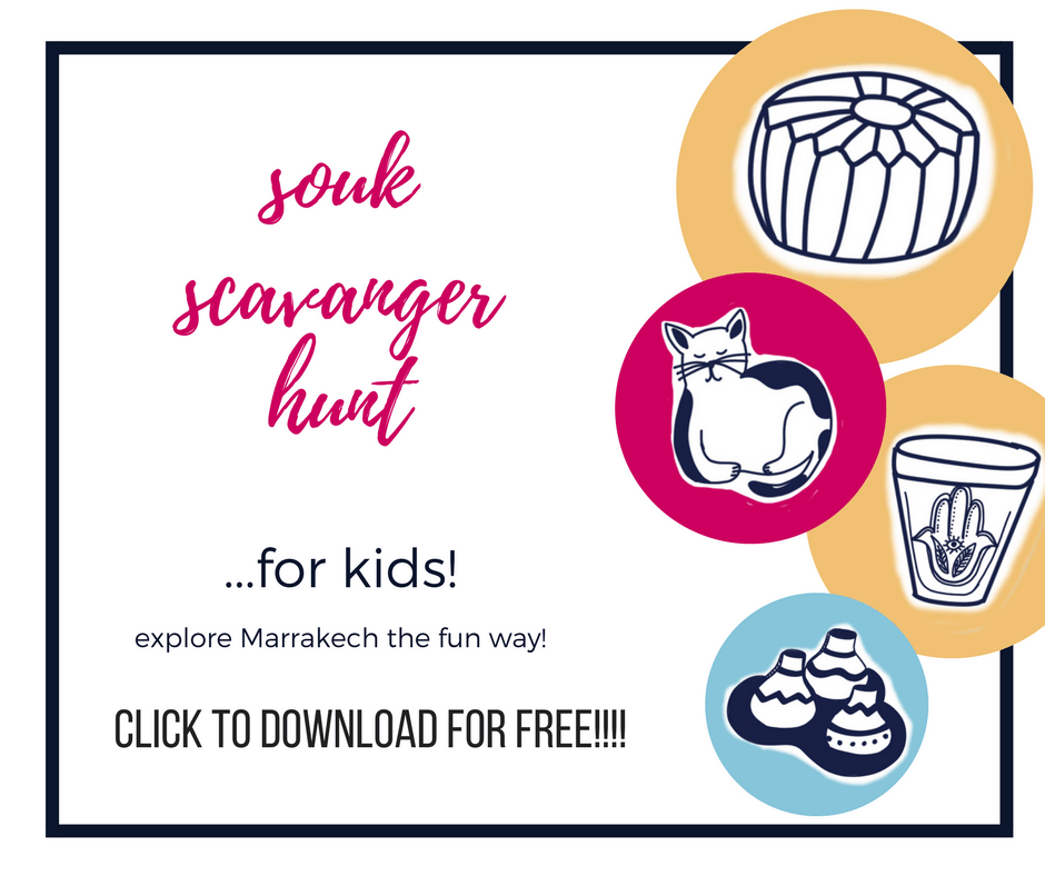 scavenger hunt for kids in marrakech