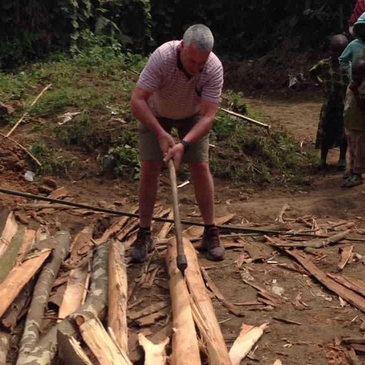 A community visit in Rwanda