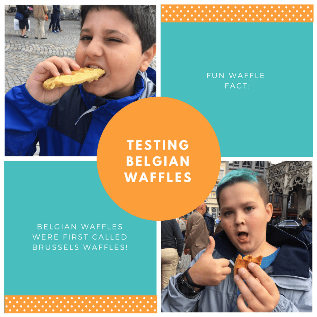 Kids love Belgian Waffles