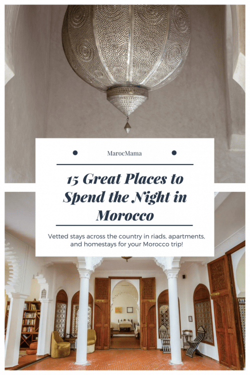 There's no shortage of great places to stay in Morocco. These 15 recommendations come from travelers who fell in love with these spots to spend the night. Marrakech riads, Fez riads, gorgeous beach hotels, and a Morocco homestay too!