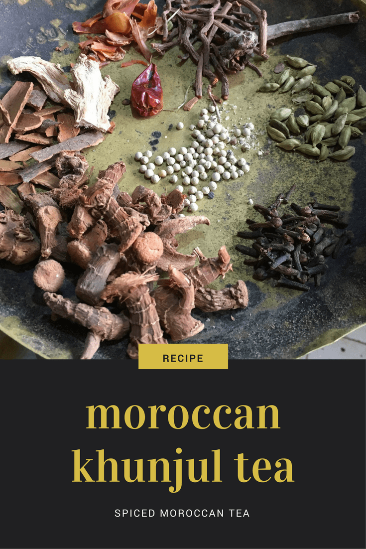 There are many varieties of tea in Morocco - not just mint tea! This recipe is for khunjul a type of spiced tea that is very common in winter months and is known for its supposed curative properties.